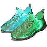 Shinmax LED Schuhe CE-Zertifikat, 7 Farbe USB Aufladen LED Leuchtend Sport Schuhe Sportschuhe LED Sneaker Turnschuhe für Unisex-Erwachsene Herren Damen