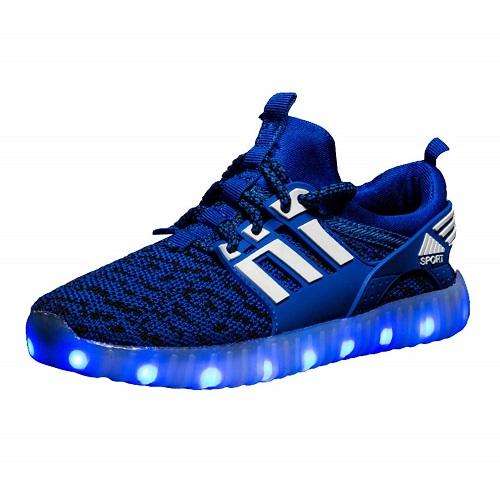 Leuchtende LED Schuhe Leuchschuhe Jungen blau